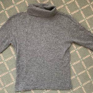 Brandy Melville grey wool short sleeve turtleneck